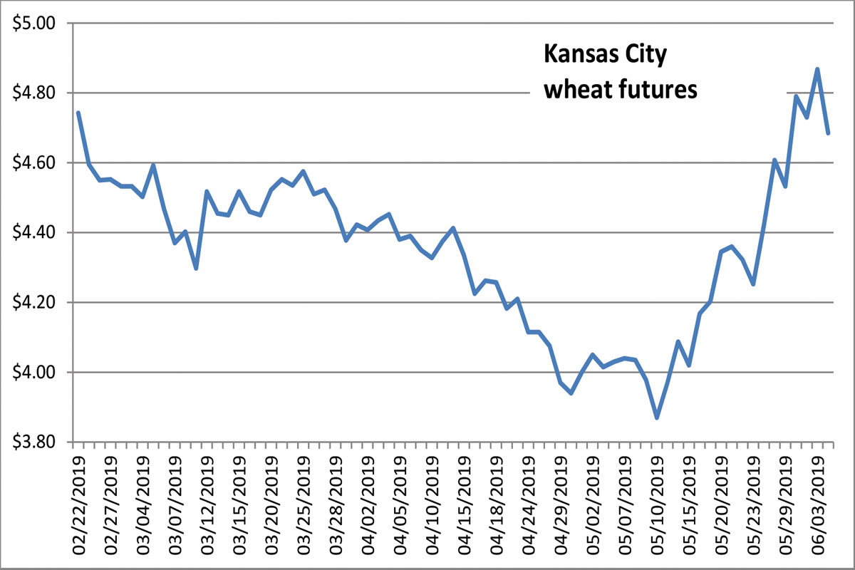 Supply Chain Scene, Graph of Kansas City Wheat Futures