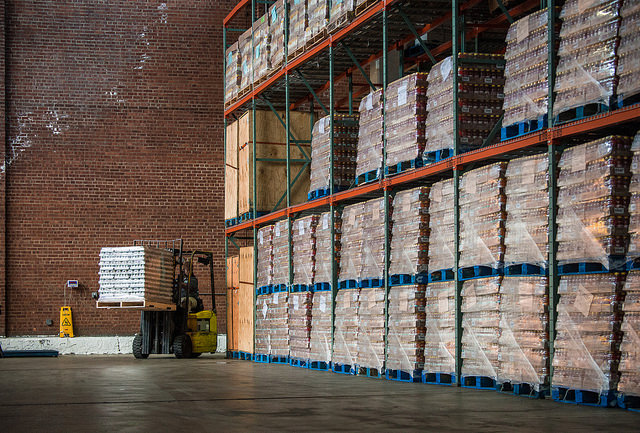 Image of the inside of a food distribution center.