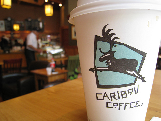 Cup of Caribou Coffee