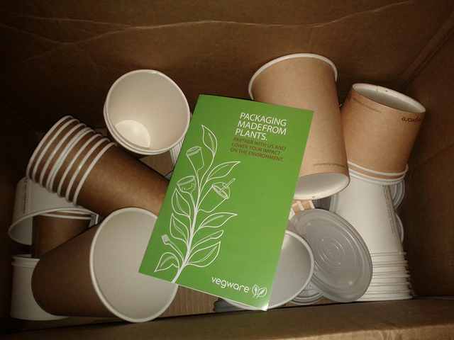 Biocompostable cups
