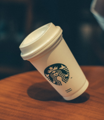 Supply Chain Scene, image of a Starbucks disposable cup
