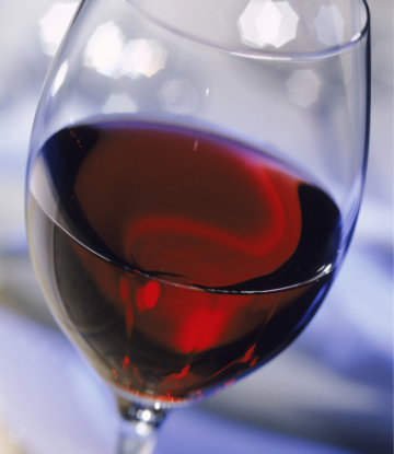 Supply Chain Scene, image of a glass of red wine