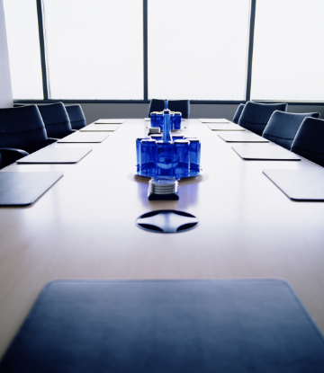 Supply Chain scene, image of a board room table