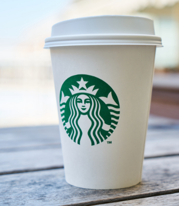 Supply Chain Scene, image of Starbucks paper cup