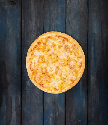 Supply Chain Scene, image of a perfect cheese pizza