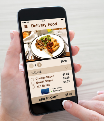Supply Chain Scene, image of a restaurant delivery app