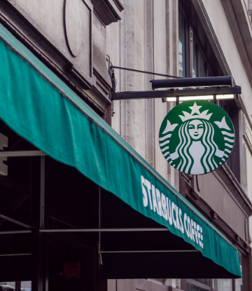 Supply Chain Scene, image of a Starbucks storefront