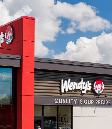 SCS, image of the outside of a Wendy's store location