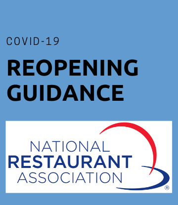 SCS, Restaurant Association logo with the words REOPENING GUIDANCE